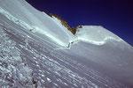 Nordflanke mit  Pic Lory 4086 m und Dome de Neige 4015 m