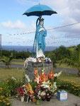 Vierge au parasol-Notre Dame des laves-Route des coulées-sud sauvage-6-11-05