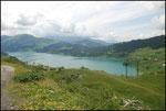 Le lac de Roselend vue de plus haut