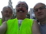 Die Begleitfahrer Heinrich, Hotte und Frank