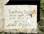 Anna Maria Eggerth 1861 - 1862 Kann Cemetery Iowa