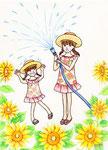 「夏のシャワー」