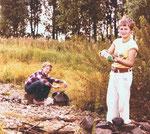 1979, Gregor mit seinem ungarischen Freund Robert