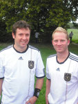 auch ehemalige Spieler waren dabei, hier Michael Kosch & Patrick Billing
