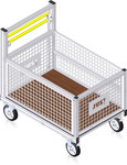 79-103 Trolley with lattice container (rendering)