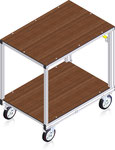 79-102 Equipment Trolley with 2 Plattforms (rendering)