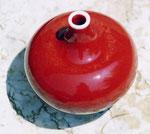 Nicole CAILLAT - Rouge de Cuivre sur Porcelaine