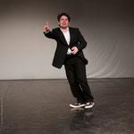 """2012 / als Mollfells in einer Szene aus """"Scherz, Satire, Ironie und tiefere Bedeutung"""" von Grabbe, Inszenierung: Ragna Pitoll, Theaterakademie Mannheim, Photo: Wolfgang Detering"""