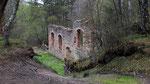 Ruine du bâtiment de lavage des minerais extraits