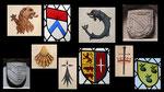 Blasons et symboles rencontrés
