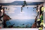 ... in der Umsetzung so aussieht. Hier ist die Malerei mit Kunstfelsen kombiniert. ...