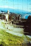 Am Anfang ist immer die Vorlage - ein Foto von Sizilien - mit dem Ätna im Hintergrund und Taormina im Vordergrund