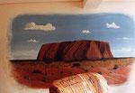 """Meine Möglichkeiten auszuschöpfen kamen erst nach dem Mauerfall. Meine erste Wandmalerei im """"Westen""""."""