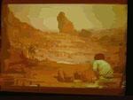 Sie zeigen Kunstfelsen für die Stanley Kubrick Ausstellung im Deutschen Filmmuseum zur Thematik der Frontprojektion, die ...
