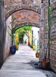 """Rhodos, Altstadt""                                                               Acryl auf Leinwand"