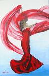"""Flamenco"" - Acryl auf Leinwand - 40 x 60 cm"
