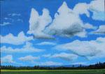 """""""Wolken über der Bückeburger Niederung"""" - Acryl auf LW - 100 x 65 cm"""