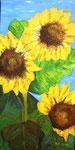 """Sonnenblumen"" -   50 x 100 cm -  Acryl auf Leinwand"