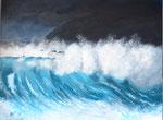 """Wellenbrecher"" - Acryl auf Leinwand - 80 x 60 cm"