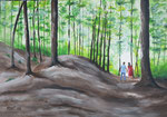 """Spaziergang ins Licht"" - Acryl auf Leinwand - 80 x 60 cm"
