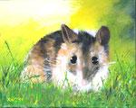 """Waldmaus"" - Acryl auf Leinwand - 50 x 40 cm"