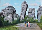 """""""Externsteine"""" - Acryl auf Leinwand - 70 x 50 cm"""