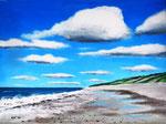 """""""Wolken über der Nordsee"""" / Dänemark - Acryl auf Leinwand 80 x 60 cm"""