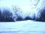 """""""Winter in den Hofwiesen, Bückeburg"""" -                        Acryl auf Leinwand"""