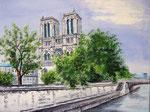 """""""Notre Dame de Paris"""" -                                                     Acryl auf Leinwand"""