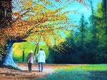 """Herbstspaziergang 2"" - Acryl auf Leinwand - 80 x 60 cm"
