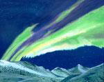 """Nordlicht 2"" - Acryl auf Leinwand - 100 x 80 cm"