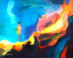 """Schwanennebel"" - Acryl auf Leinwand - 100 x 80 cm"