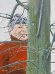 """Lisa"" - Acryl auf Leinwand - 30 x 40 cm - unverkäuflich"