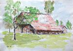 """Alte Scheune"" - Aquarell 30 x 40 cm"