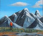 """Der Wanderer"" - Acryl auf LW - 50 x 40 cm"
