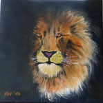 """Portrait eines Königs"" - Acryl auf Leinwand 40 x 40 cm"
