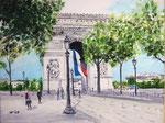 """""""Arc de Triomph"""",  Paris -                                                   Acryl auf Leinwand"""