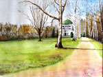 """Am Mausoleum, Bückeburg"" - Aquarell"