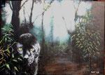 """""""Schwarzer Panther im Dschungel"""" - Acryl auf Leinwand - verkauft"""