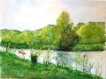 """Die Altmühl"" - 39 x 29 cm - Aquarell"