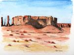 """Monument-Valley"" - Aquarell -40 x 30 cm - verschenkt"