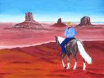 """""""Monument Valley"""" - Acryl auf Leinwand - 80 x 60 cm"""