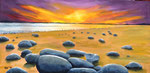 """""""Sonnenuntergang am Meer"""" - Acryl auf Leinwand 100 x 50 cm"""