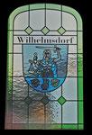 Türenscheibe mit Wappen