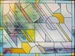 HPF-12 Bleiornamentverglasung mit geometrischen Elementen