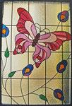 Fensterscheibe mit Schmetterling