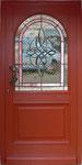 HPH-1     Rundbogenscheibe für Haustür mit Facettenbild