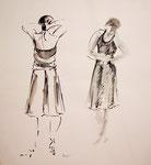 10 - flamenco 1. encre sur papier. 50x65