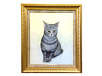 依頼肖像画 猫 遺影の代わりとして描かせていただきました。F15サイズ