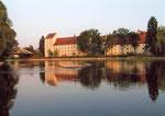 Straubing, Herzogsschloss, Donau